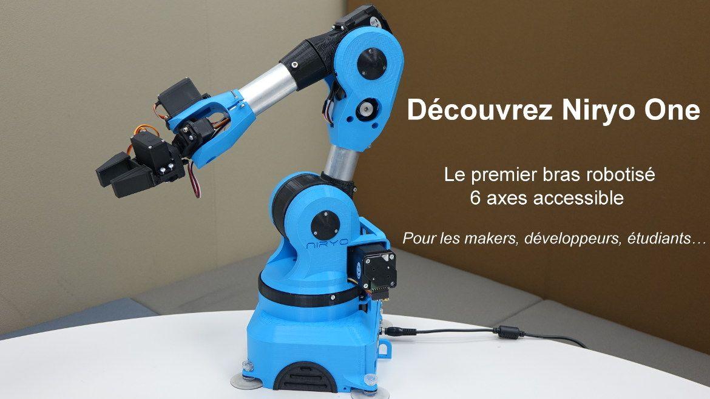 niryo one - bras robotise 6 axes pour les makers developpeurs et etudiants