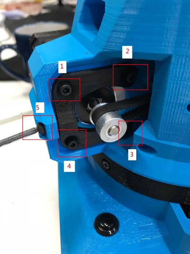 Tense belt axis 2